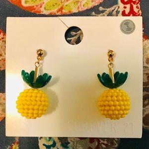 Forever 21 Pineapple earrings